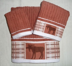 Personalized 3 Piece Moose Towel Set