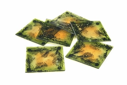 Europa Woodlands Glass Coaster Set of 6