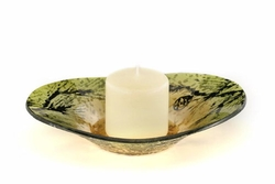 Europa Woodlands Glass Oval Plate