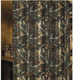 Oak Camouflage - Shower Curtain with Rings