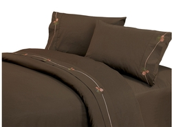 Pine Cone Embroidered Sheet Set