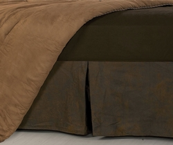 Faux Leather Bed Skirt