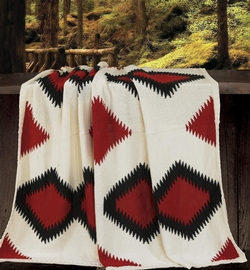 Hand Knit Navajo Throw