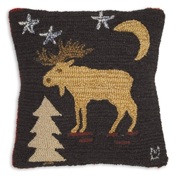Night Moose Pillow 18