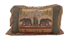 Bear Pillow with Rope Fringe