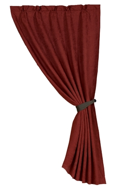 Red Suede Curtain - 48