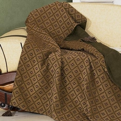 Black Pine Diamond Throw