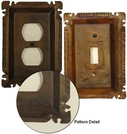 Heavy Rustic  Cut Corner Switchplates