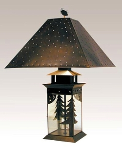 Dark Bronze Tree and Moon Lantern