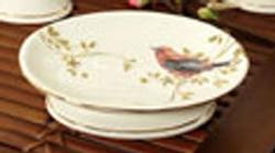 Gilded Birds Soap Dish - Ivory