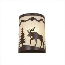 Rustic Yellowstone Wall Sconce 8