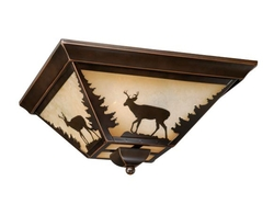 Bryce Flush Mount Bronze Ceiling Light