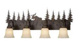 Yellowstone 4L Vanity Light - Burnished Bronze