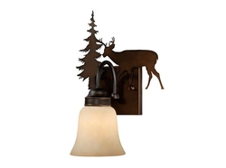 Bryce 1L Vanity Light - Burnished Bronze