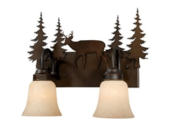 Bryce 2L Vanity Light - Burnished Bronze