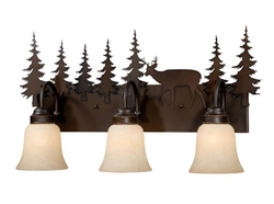 Bryce 3L Vanity Light - Burnished Bronze