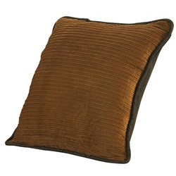 Ocala Corduroy Pillow with Faux Leather