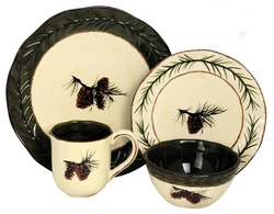 Pine Cone Dinnerware - 16 pc. Set