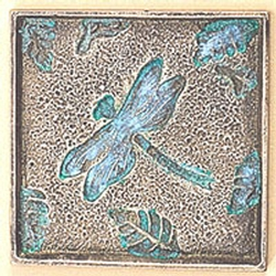 Dragonfly and Leaf Coasters - Set of 4