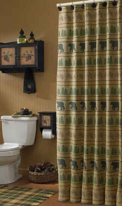 Bear Tracks Shower Curtain 72