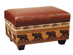 Rustic Cabin Furnishing Furniture Ottomans