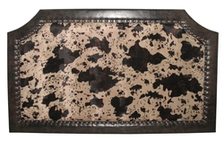 Cow Hide Upholestered Headboard