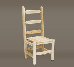 Ladder Back Log Chair