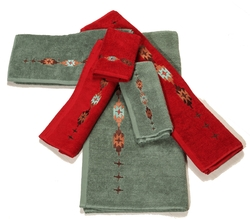 Navajo Embroidered Towel Set