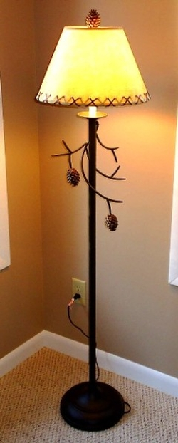 Pine Cone Branch Floor Lamp