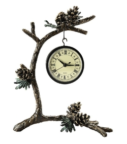 Pinecone & Branch Clock