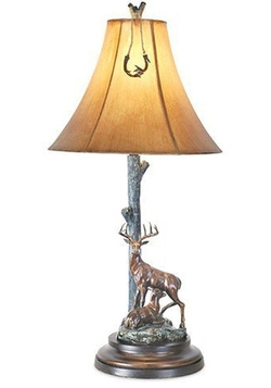 Buck & Doe Deer Table Lamp
