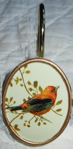 Gilded Birds Shower Curtain Hooks - Set of 12
