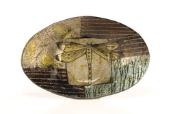 Dragonfly Oval Dish 9 3/4