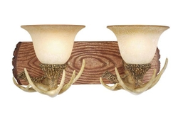 Lodge 2L Vanity Light with French Scavo Glass