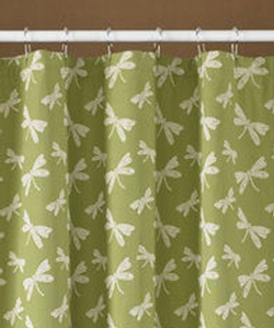 Dragonfly Lined Shower Curtain - 72