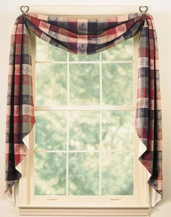Pine Cone Fishtail Swag Curtain 145