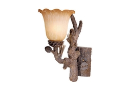Aspen Single Sconce - Pine Tree Finish