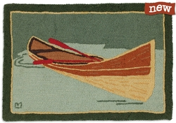 Adirondack Guide Boat - 2' x 3' Hooked Accent Rug