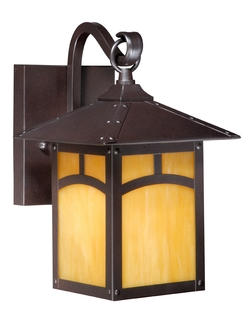 Outdoor fan cabin outdoor lighting rustic post lights lodge taliesin 7 outdoor wall light aloadofball Choice Image