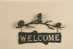 Pine Cone Welcome Sign - 17