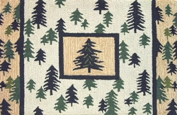 Pine Forest Accent Rug