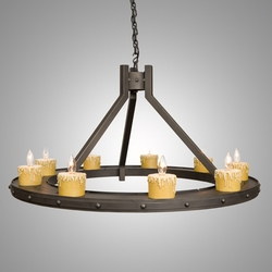 Steel Creek Chandelier - Rivets - 9 Light