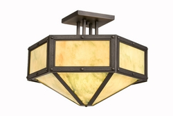 Hexagon Semi Flush Drop Ceiling Mount - RIVETS