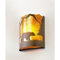 Timber Ridge Sconce - Bear