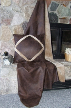 Faux Leather Throw - Chocolate