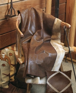 Faux Leather Throw - Wyoming