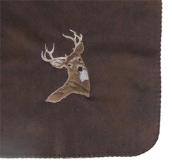 Embroidered Throw - Buck - Mule Deer
