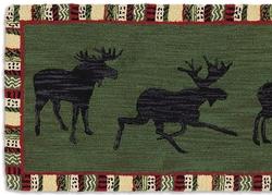Argyle Spruce Moose 8' Hooked Runner