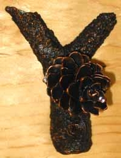Bronze Fir Cone Hook