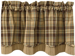 Time Worn Lined Layer Valance